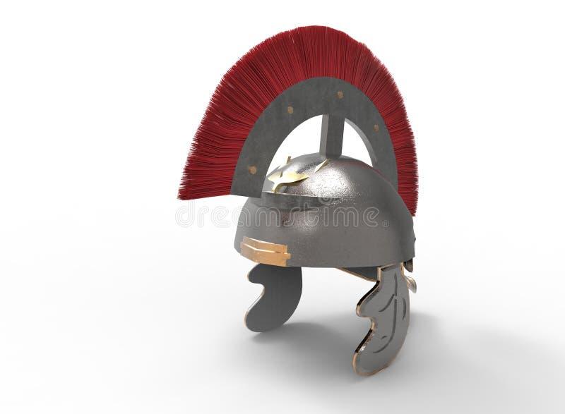 3d ilustracja antyczny rzymski hełm ilustracja wektor