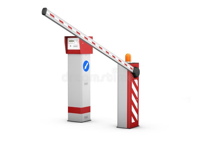 3d ilustracja bariery bramy Automatyczny system dla ochrony royalty ilustracja