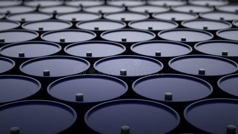 3d ilustracja baryłki z ropą naftową zdjęcie stock