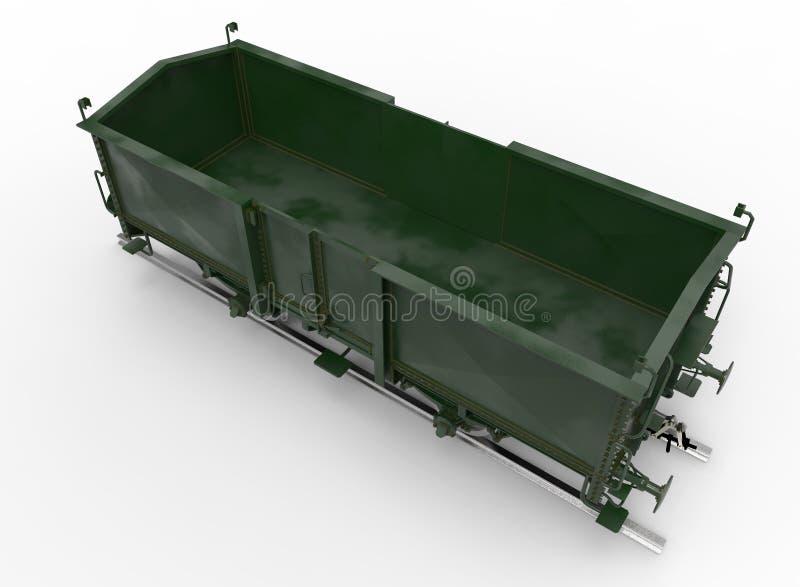 3d ilustracja furgonu pociąg ilustracja wektor