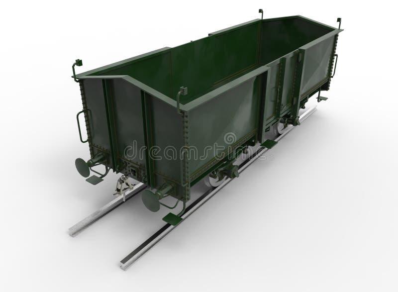 3d ilustracja furgonu pociąg royalty ilustracja
