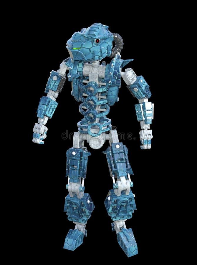 3D ilustracja Futurystycznego metalu Przemysłowy robot royalty ilustracja