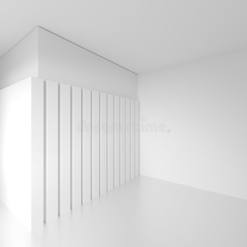 3d ilustracja Futurystyczny Wewnętrzny projekt Minimalny architekt ilustracji