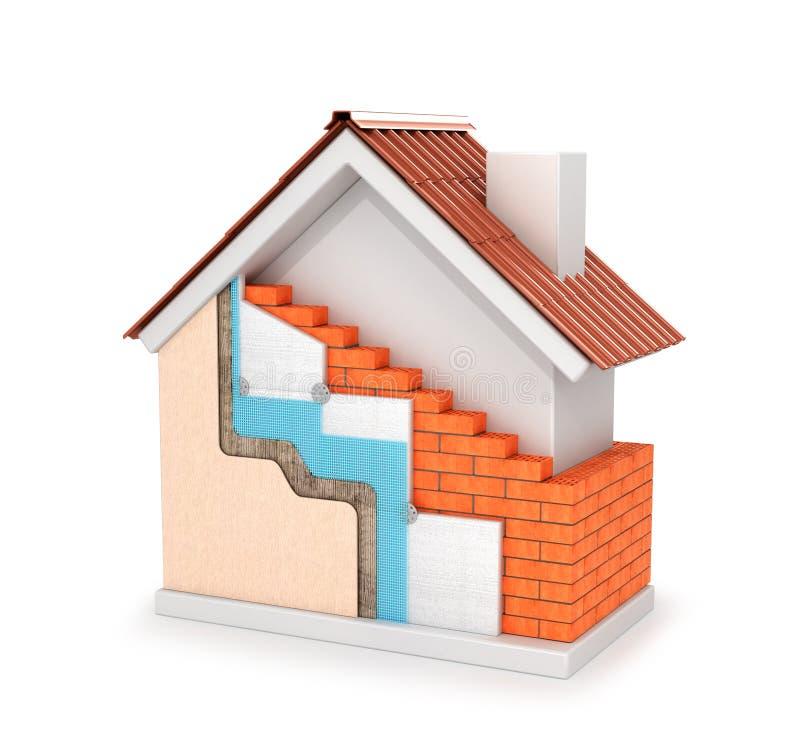 3d ilustracja izolacja zewnętrznie ściany ilustracja wektor