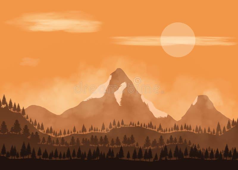 2D ilustracja krajobraz ilustracji