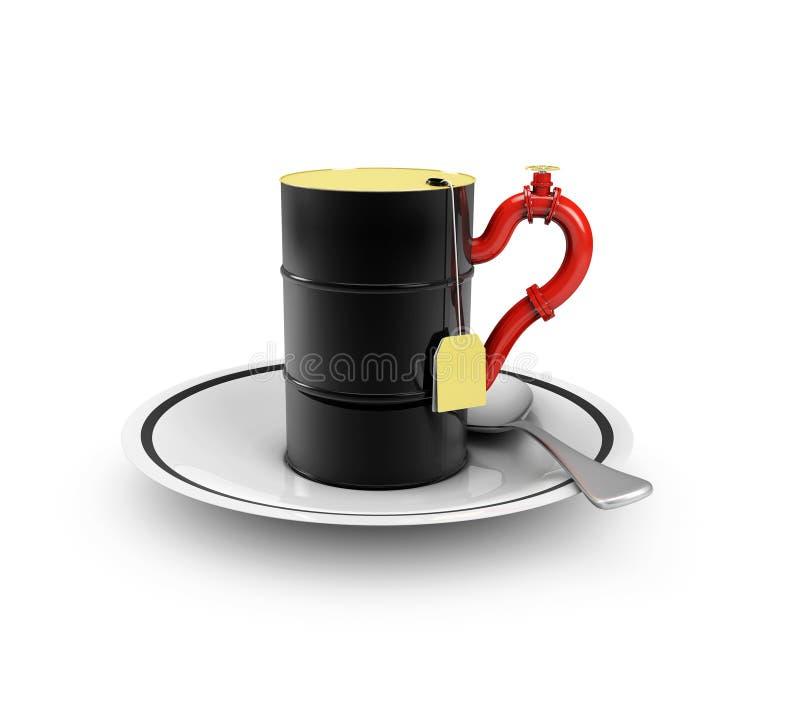 3d ilustracja nakrętka olej, odosobniony biały tło royalty ilustracja