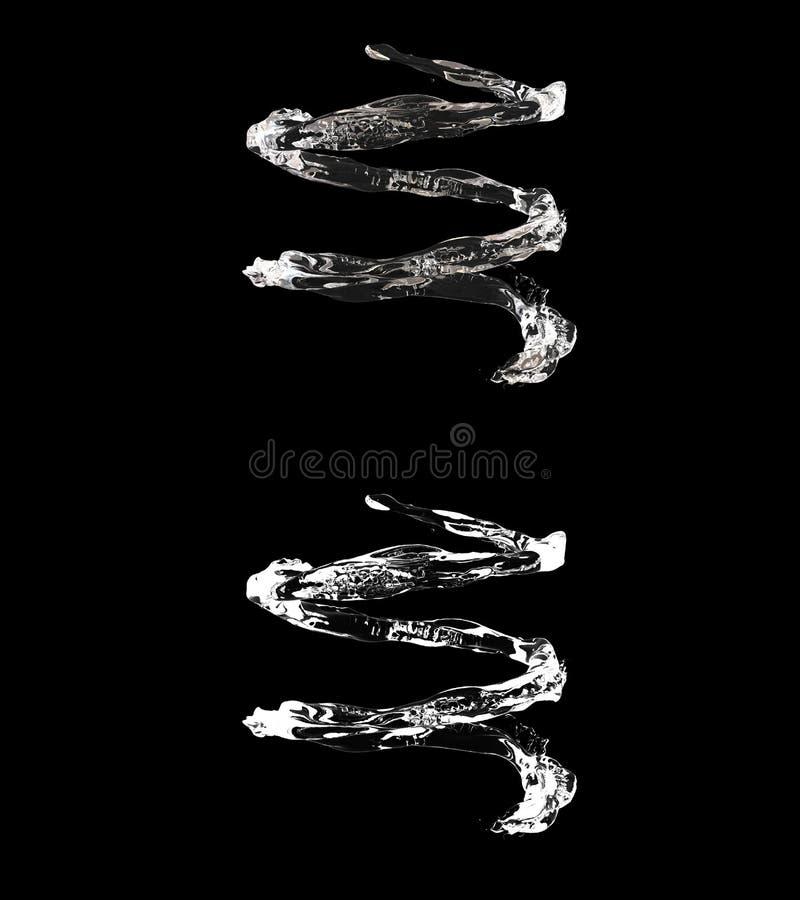 3D ilustracja nawadnia przepływ z alfa warstwą ilustracji