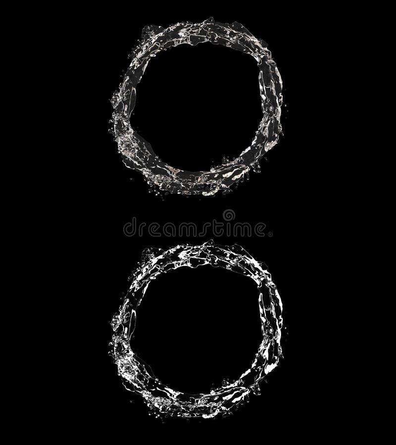 3D ilustracja nawadnia przepływ z alfa warstwą ilustracja wektor