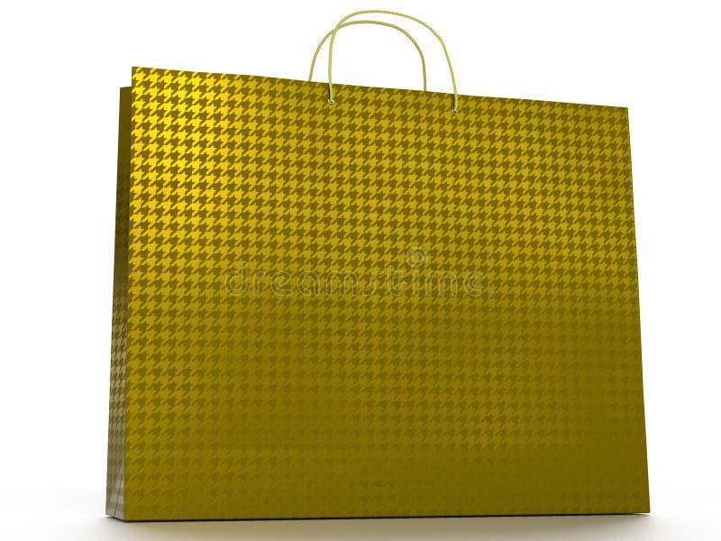 3D ilustracja odizolowywająca na białym tle torba na zakupy ilustracja wektor