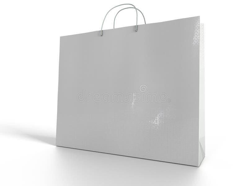3D ilustracja odizolowywająca na białym tle torba na zakupy ilustracji