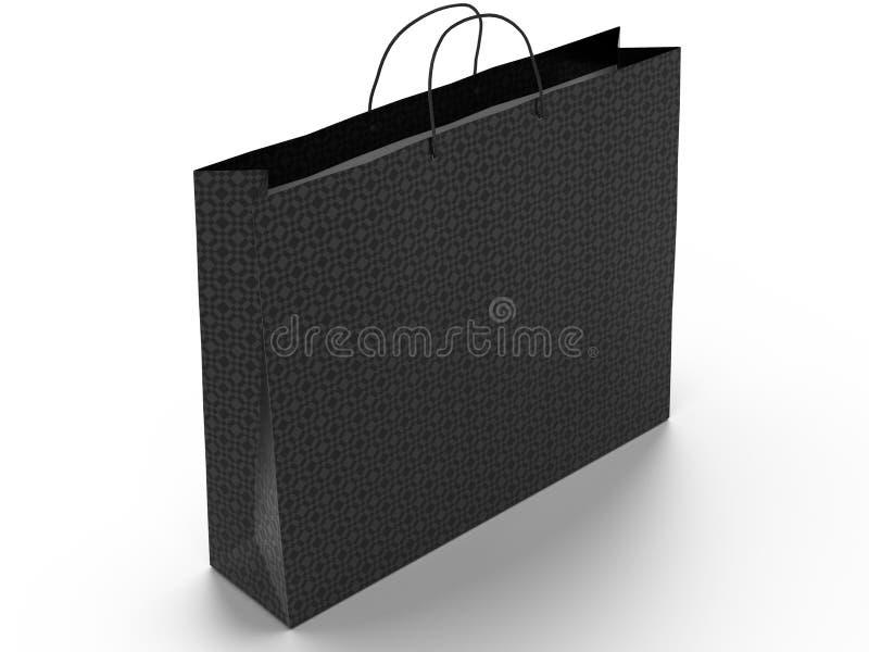 3D ilustracja odizolowywająca na białym tle torba na zakupy Miejsce dla teksta na pustej stronie Ścinek ścieżka zawierać royalty ilustracja