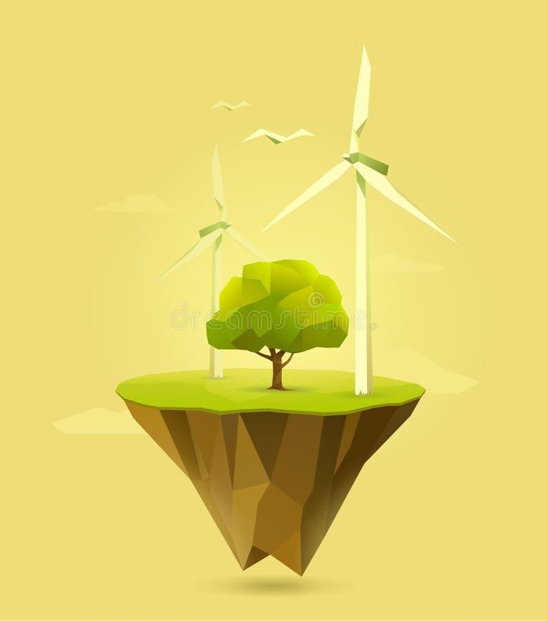 3d ilustracja odizolowywający władzy wiatr ilustracja wektor