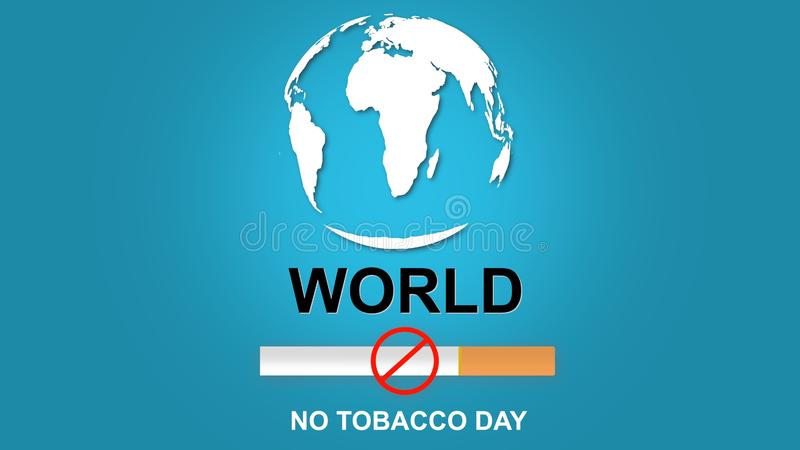 3D ilustracja Palenie zabronione i Światowy Żadny Tabaczny dzień ilustracja 3 d ilustracji
