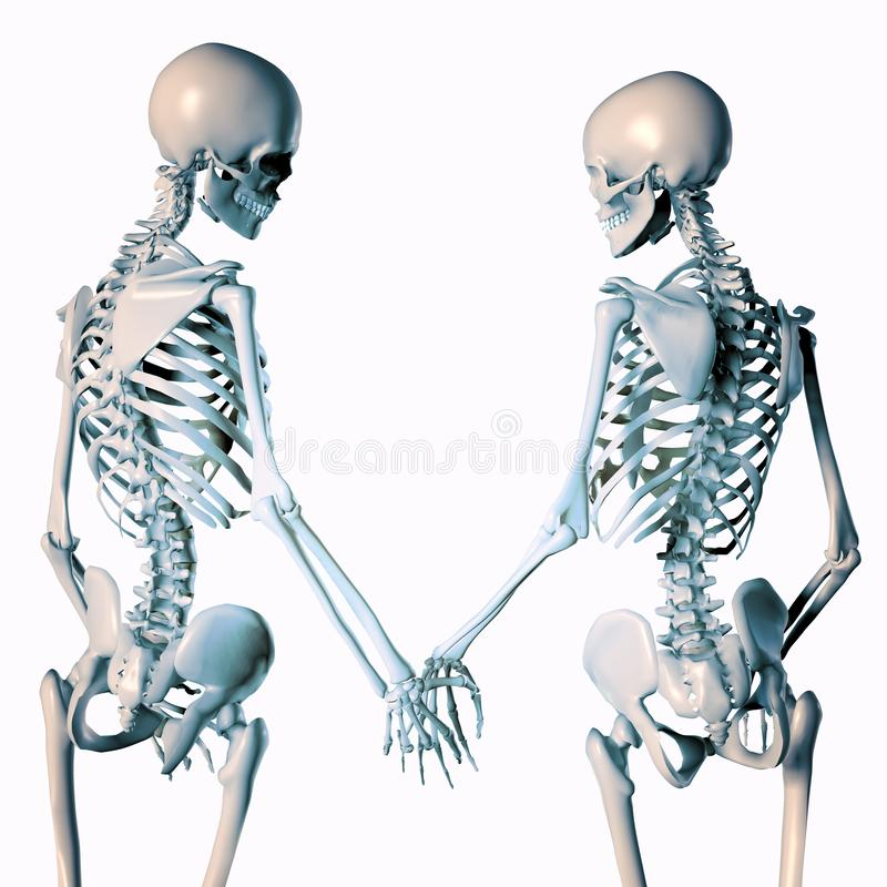 3d ilustracja romantyczne zredukowane pary ilustracja wektor