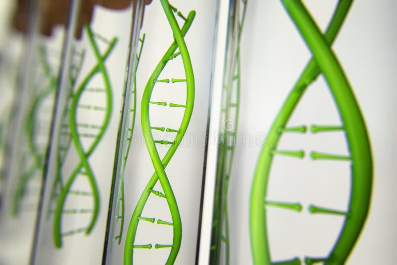 3d ilustracja szkło model DNA molekuła ilustracji