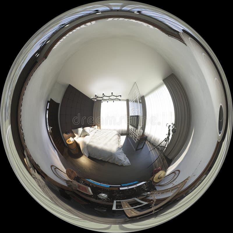 3d ilustracyjni bańczaści 360 stopni, bezszwowa panorama bedr ilustracja wektor