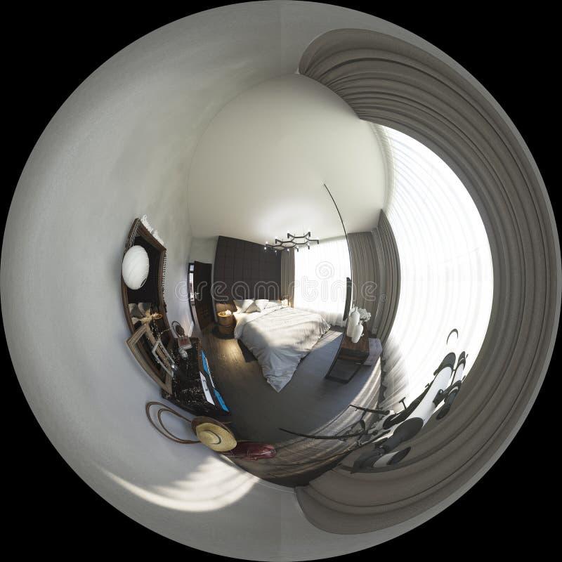 3d ilustracyjni bańczaści 360 stopni, bezszwowa panorama bedr ilustracji