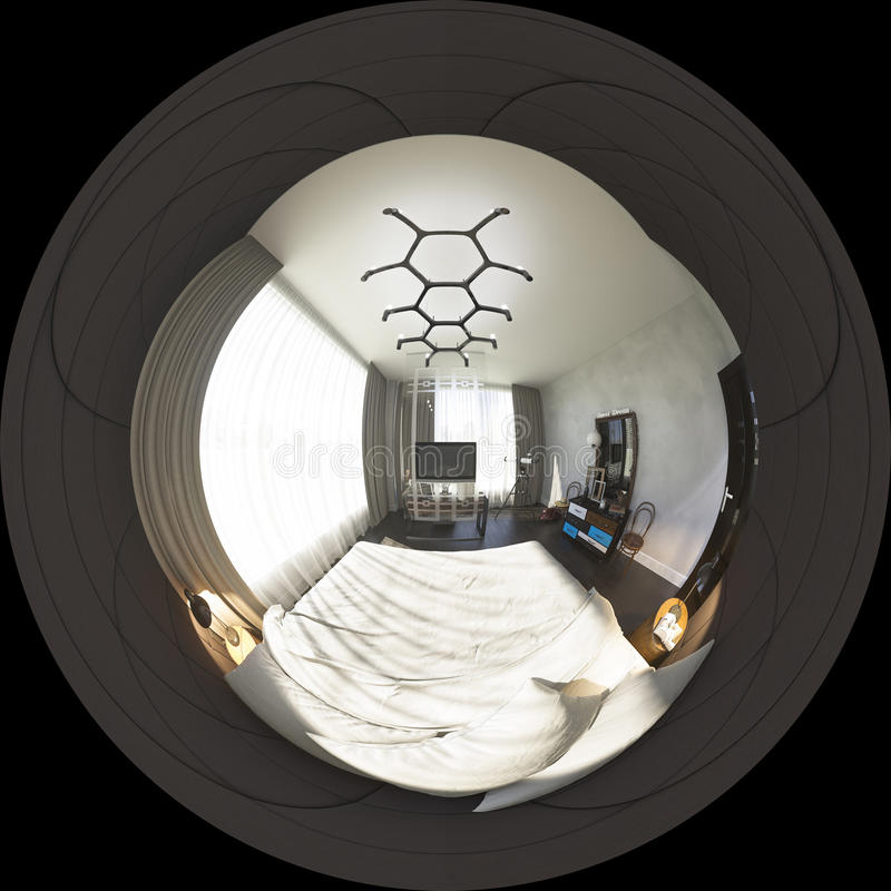 3d ilustracyjni bańczaści 360 stopni, bezszwowa panorama bedr royalty ilustracja