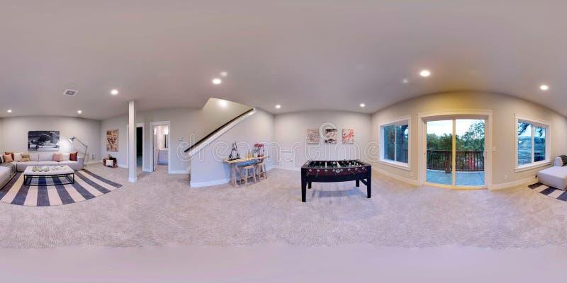 3d ilustracyjni bańczaści 360 stopni, bezszwowa panorama dom royalty ilustracja