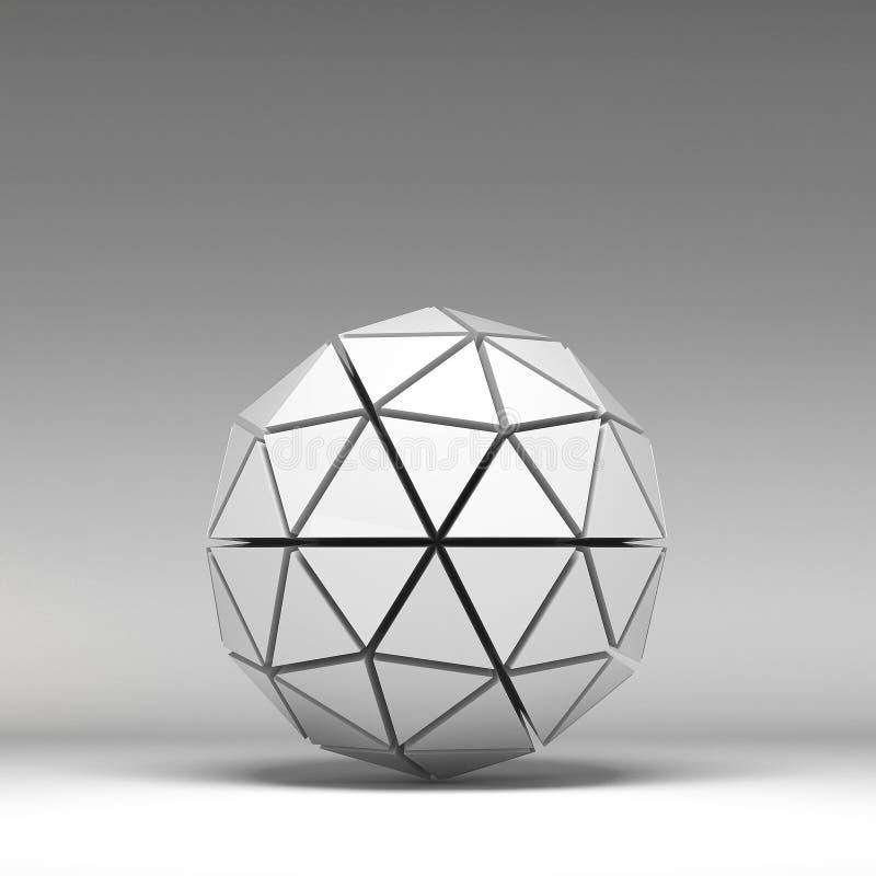 3d ilustracyjni podstawowi geometryczni kształty ilustracja wektor