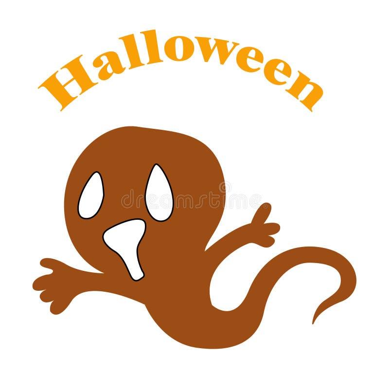 3D ilustracyjny Halloween, duch royalty ilustracja