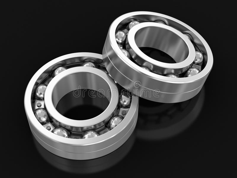 3d image of Bearings royalty free illustration