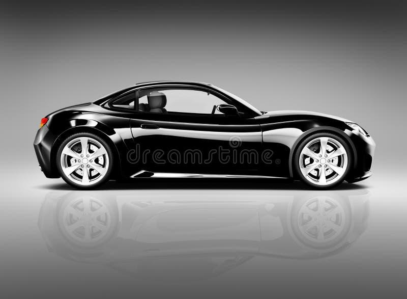 3D Image of Black Sport Car.  stock photos