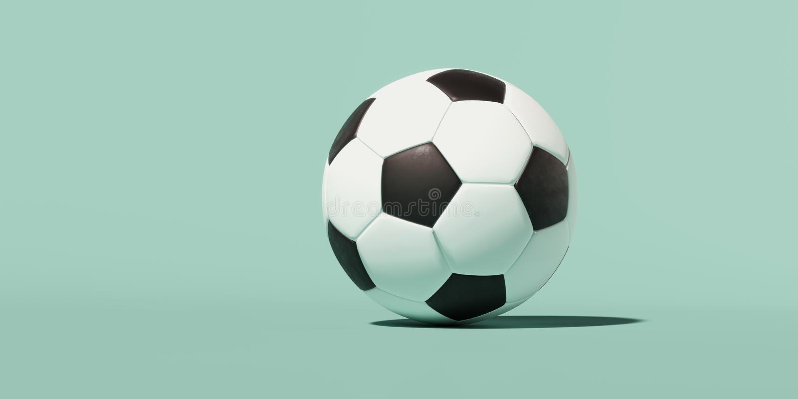 d image black white classic soccer ball green background place text banner icon wallpaper 178111640