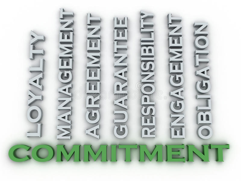 3d image Commitment issues concept word cloud background royalty free illustration