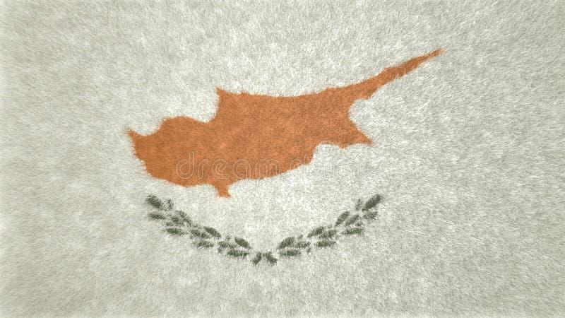 3D image originale, drapeau de la Chypre illustration de vecteur