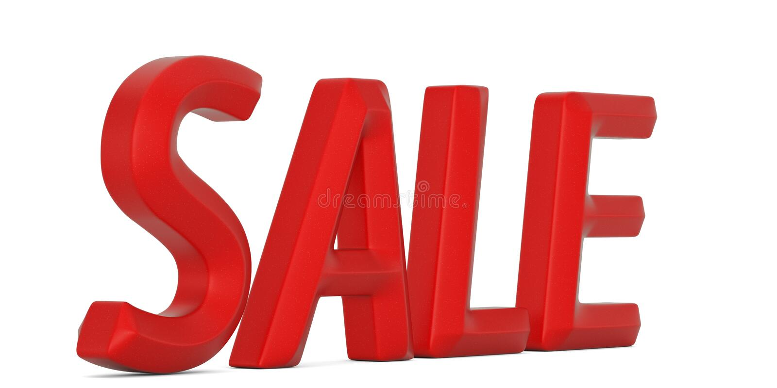 3d image of sale red text on white background. 3D illustration.  royalty free illustration