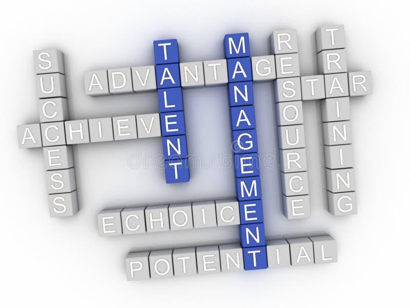 3d image Talent Management word cloud concept.  vector illustration