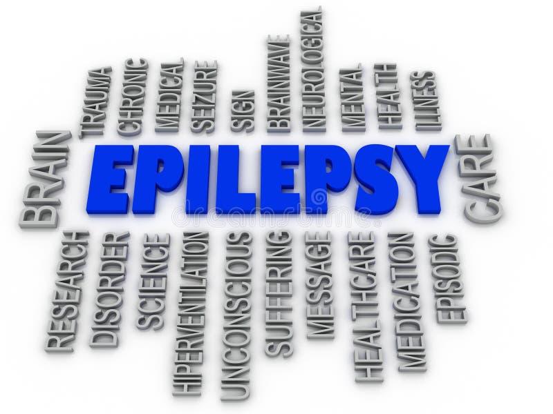 3d imagen, epilepsisymbol Symbolsconceptua för Neurological oordning stock illustrationer