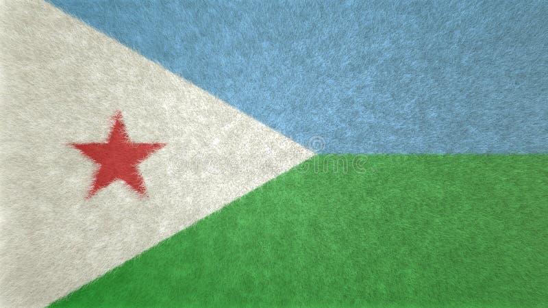 3D imagen original, bandera de Djibouti stock de ilustración