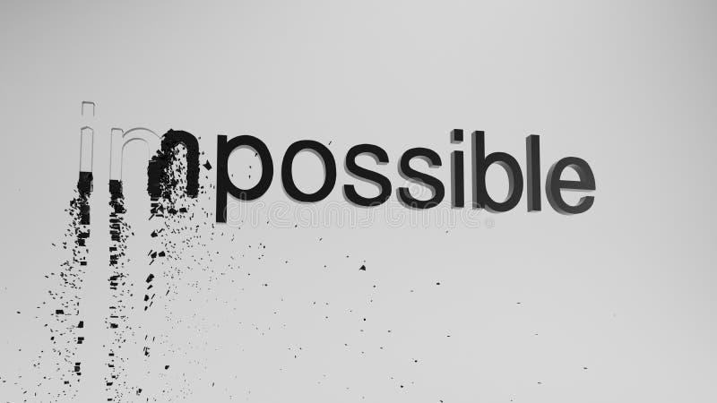 3d impossibile che rende possibile illustrazione vettoriale