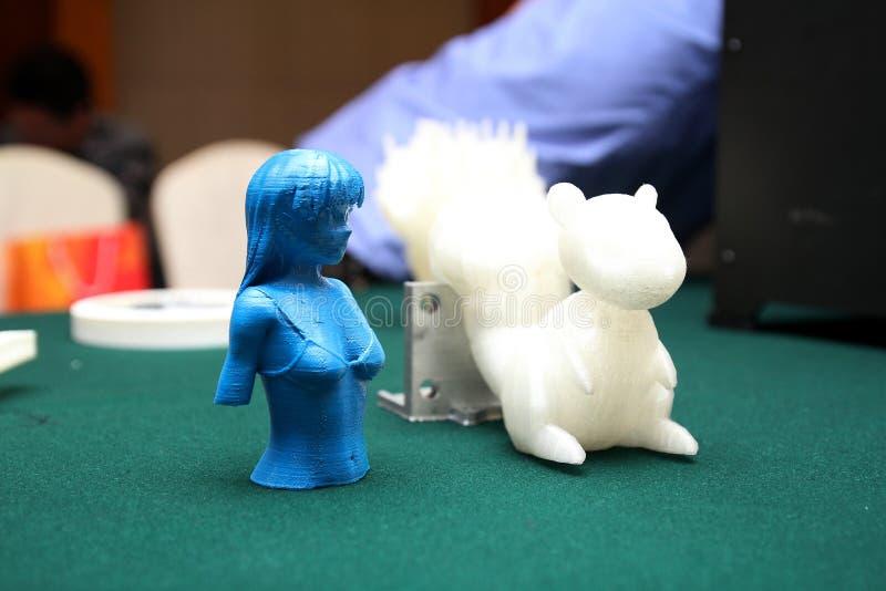 3D impressora - modelo da cópia imagem de stock