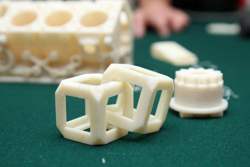 3D imprimante - modèle d'impression image stock