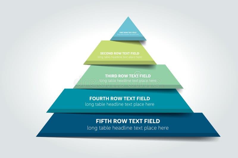 3d infographic driehoek, grafiek, regeling, diagram, lijst, programma, element stock illustratie