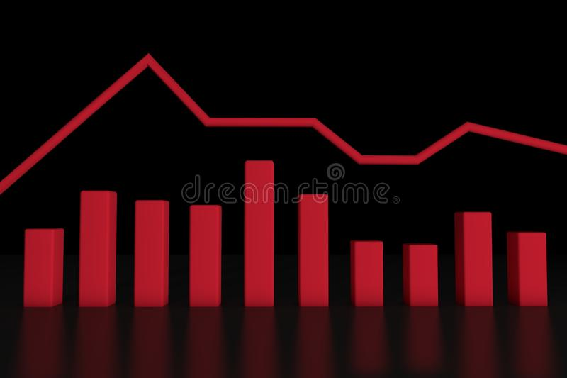 3d informatie-grafische bar stock illustratie