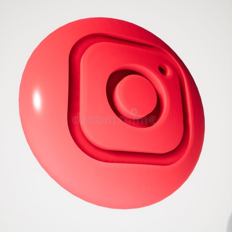 Vector Illustration Instagram: Instagram Social Media Icon Button With Symbol Inside