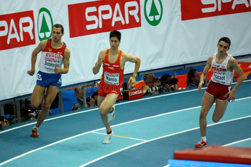 d'intérieur européen de championnats d'athlétisme image stock