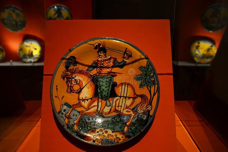 D'int?rieur du palais Cuivre-couvert images stock