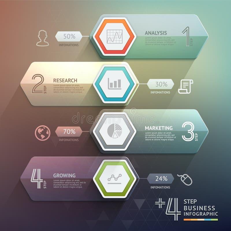 3d intensifican negocio del diagrama de la escalera de la flecha libre illustration