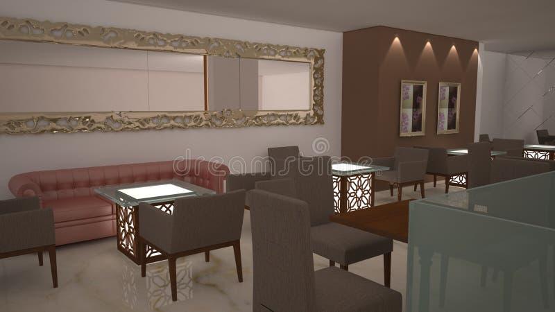 3D Interior royalty free illustration
