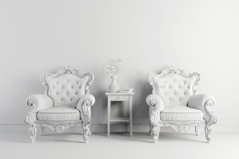Awesome 3d Vintage Arm Chair Interior Render