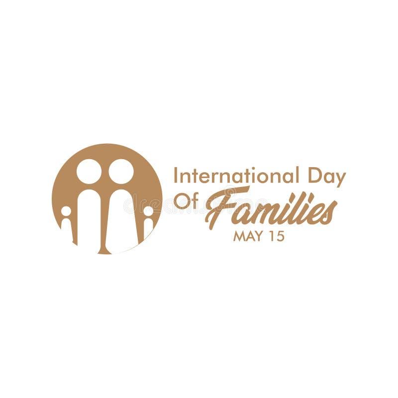 D?a internacional de ejemplo del dise?o de la plantilla del vector de mayo de las familias libre illustration