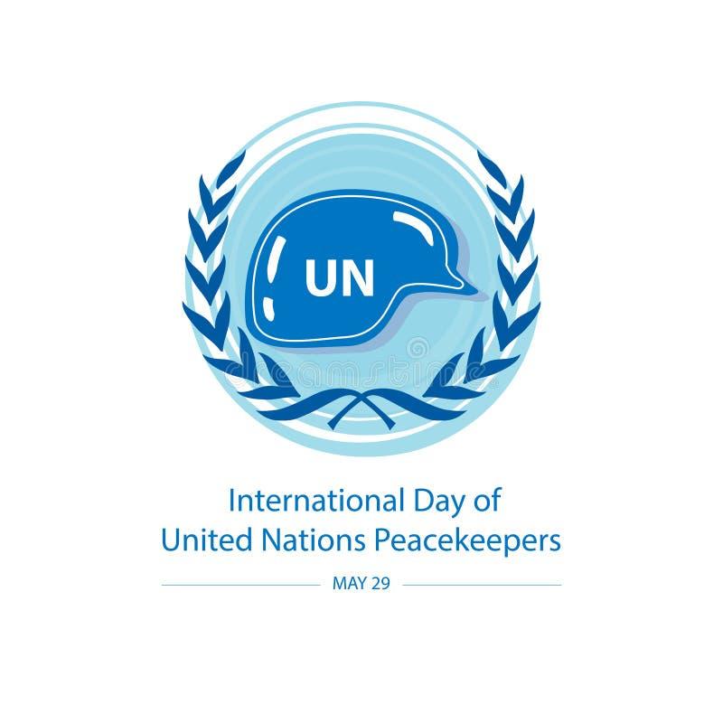 D?a internacional de fuerzas de paz de Naciones Unidas ilustración del vector