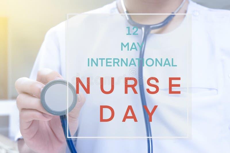 D?a internacional de la enfermera imagenes de archivo
