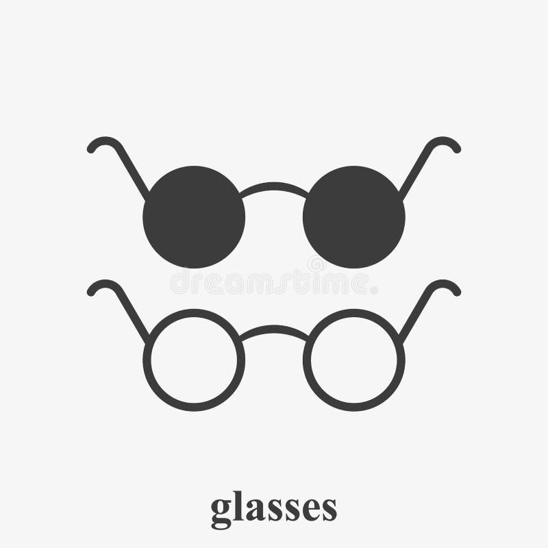 D?a internacional de personas con incapacidades Icono del esquema de la ceguera Icono de los vidrios stock de ilustración