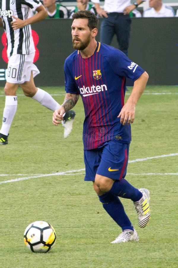 ` 2017 d'international l FC Barcelona de tasse de champions contre Juventus photos libres de droits